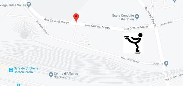 la future patinoire olympique de Saint Etienne dans le quartier du Soleil