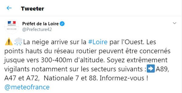 Météo: la Loire passe en vigilance orange Neige