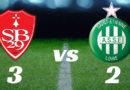 Brest 3 – ASSE 2 Les Verts se rapprochent de la zone rouge