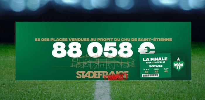 ASSE: un Stade de France comble pour le CHU de Saint-Etienne